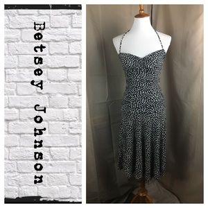 Betsey Johnson heart print halter dress